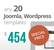 Any 20 Joomla, Wordpress, HTML5 and Bootstrap templates Bundle Package