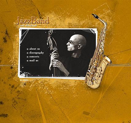 Jazz band Website Design