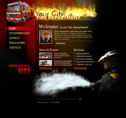 Fire department Website Design