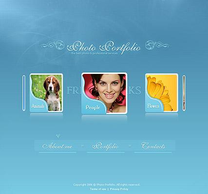 Photo portfolio Website Design