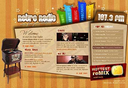 Retro radio Website Design