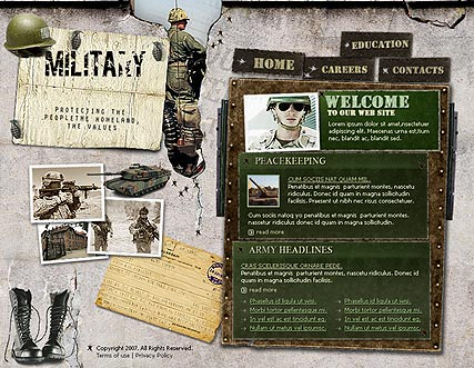 Military Website Design