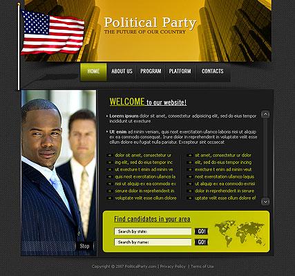 Politics Website Design