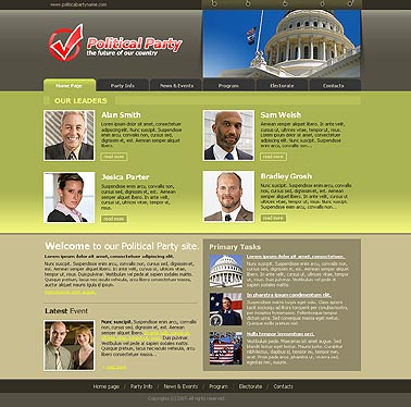 Political Party Website Design