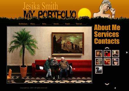 My portfolio Website Design