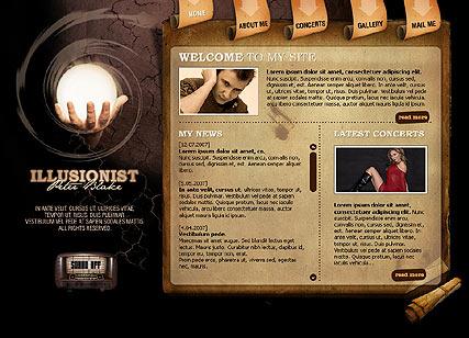 ILLUSIONIST Website Design