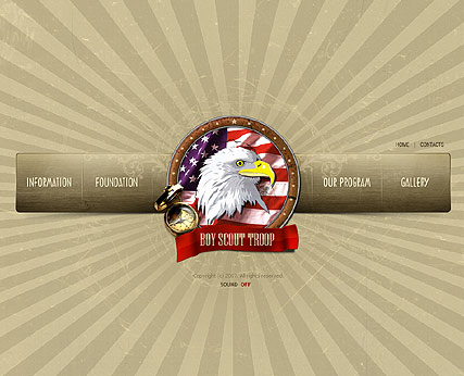 Boy Scout Website Design