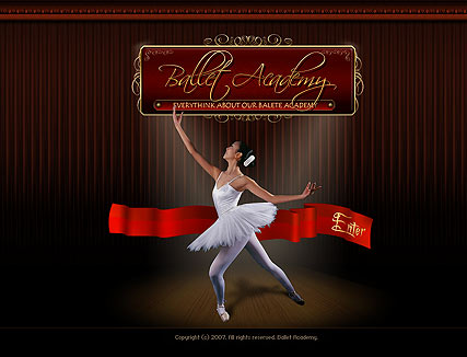 Ballet academy Website Design