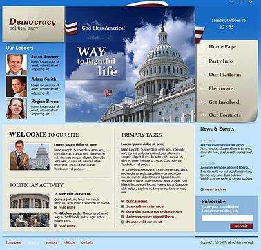 Political party Website Design