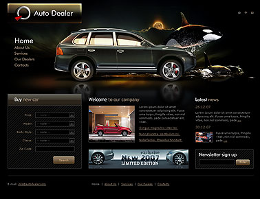 Auto Racing Powerpoint Templates on Auto Dealer Website Template Information