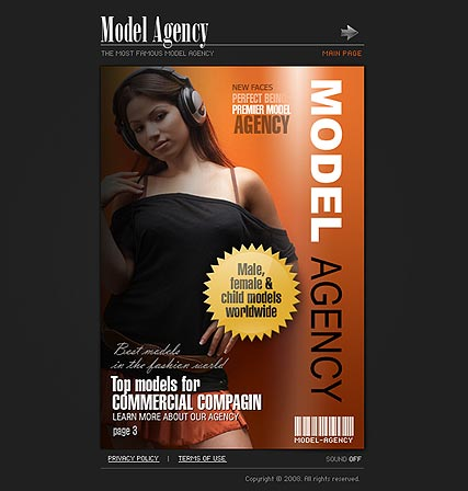 Model Agency Website Design