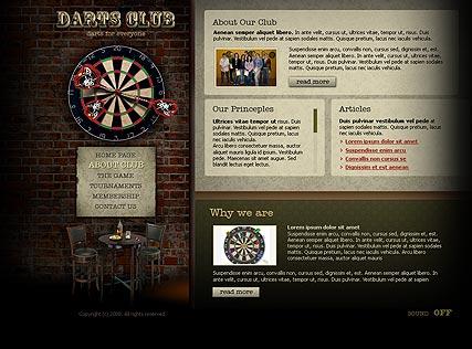 Dart club Website Design