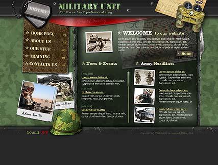 Military unit Website Design