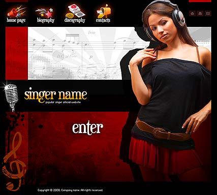Singer Website Design