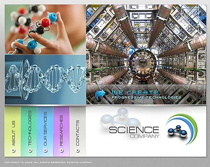 Science Website Design