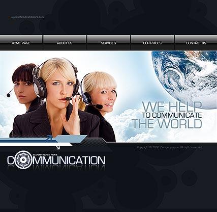 Communication Website Design