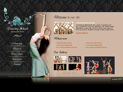 Dancing school Website Design