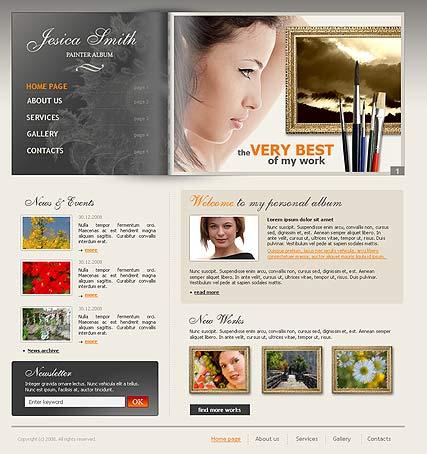 Painter album Website Design