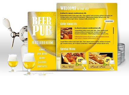 Beer Pub Website Design