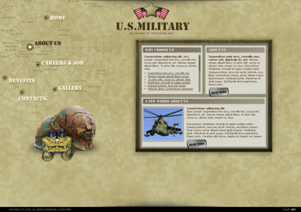 Millitary Website Design