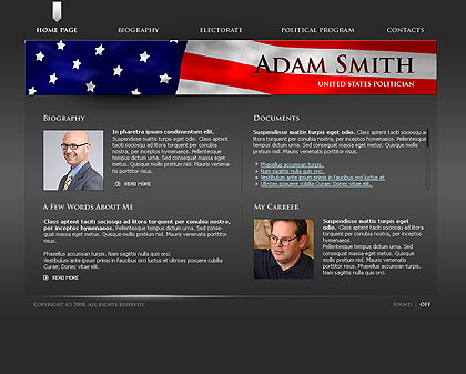 Politician Website Design