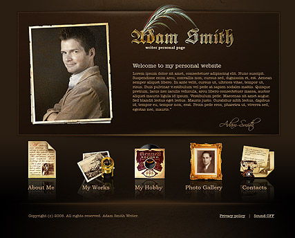 Writer personal Website Design