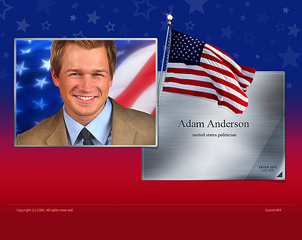 US Politician Website Design