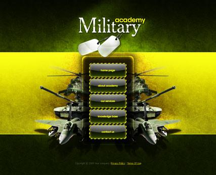 Military academy Website Design