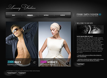 Luxury Fashion Website Design