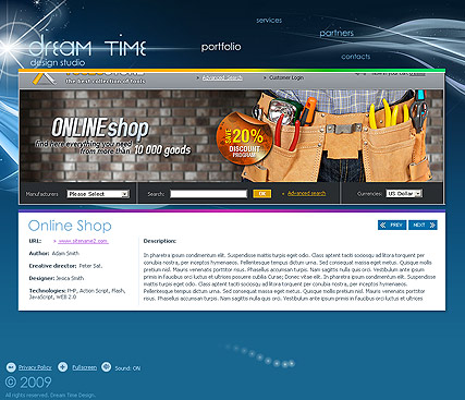 Dream Design Website Design