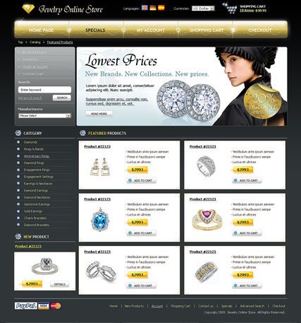Jewelry Store Website Design