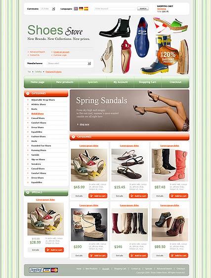 Shoes Store Website Design