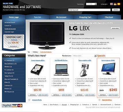 Hardware Website Design