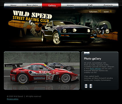 Street racing Website Design