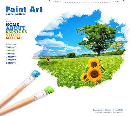 Paint Art Website Design