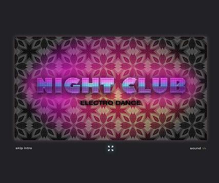 Night Club Website Design