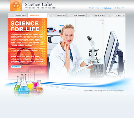 Science Website Design
