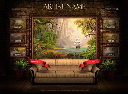 Painter folio Website Design