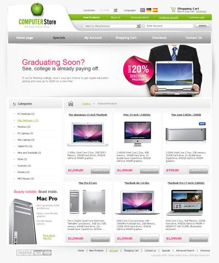 Computers store Website Design