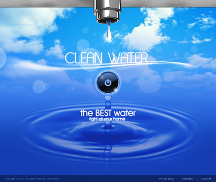 Clean water Website Design
