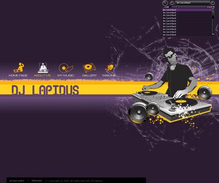 DJ Lapidus Website Design
