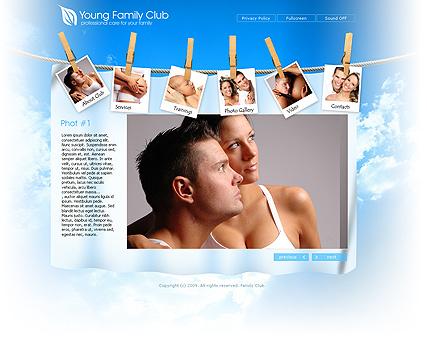 Family Club Website Design