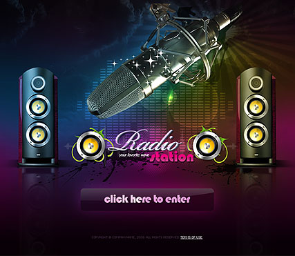 Radio Station Website Design
