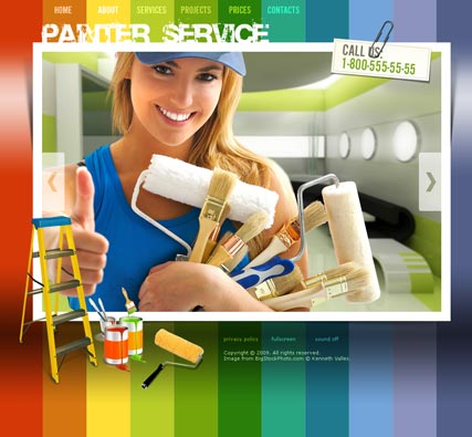 Painter Service Website Design