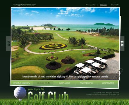Golf Club Website Design