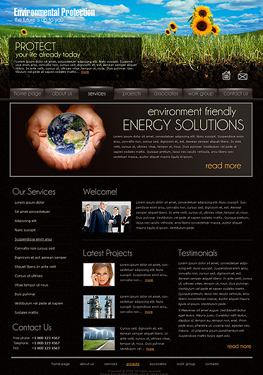 Ecology Protect. Website Design