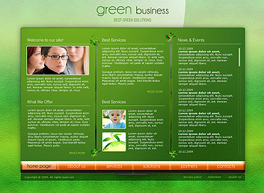 Green Business Website Design