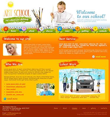Art School Website Design