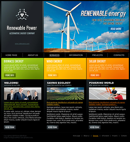 Renewable Power Website Design