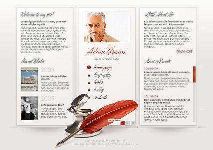 Writer Page Website Design
